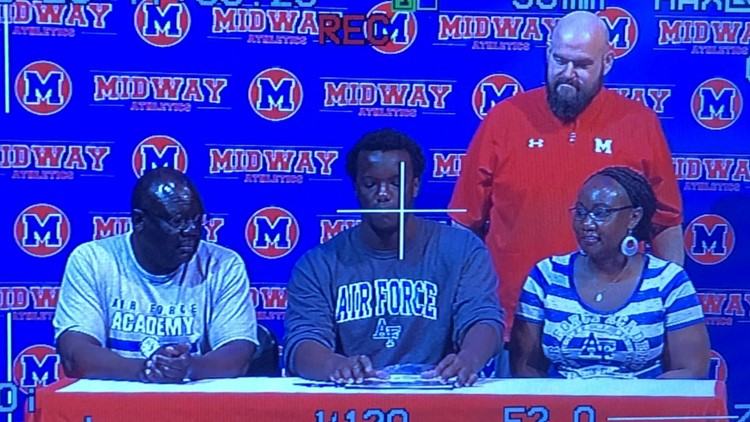 Wesley Ndago signs with the United States Air Force Academy