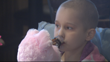 Temple helps 9-year-old girl fighting cancer