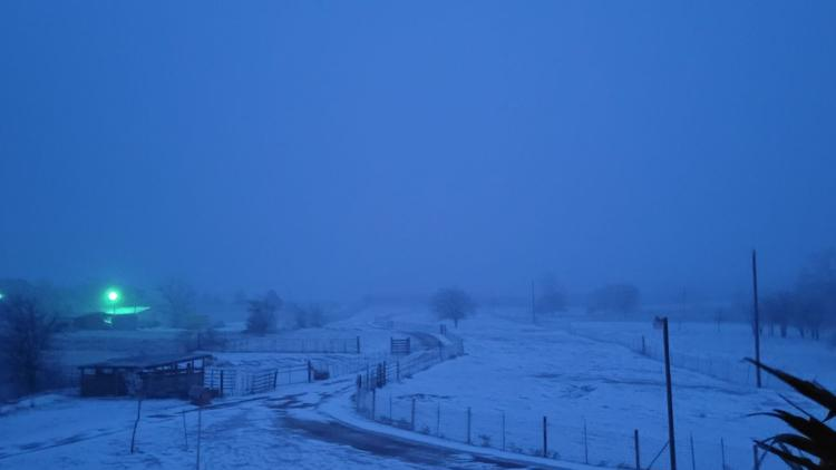 Your Photos: Snow begins falling across Central Texas