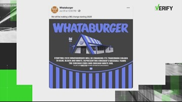 VERIFY | Say it ain't so! Is Whataburger changing its colors?