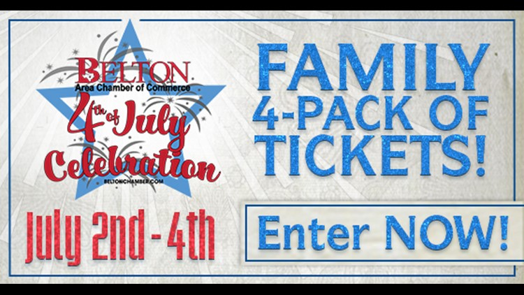 Enter to win tickets to the Belton 4th of July Celebration
