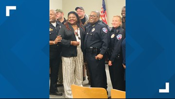 Marlin swears in new police chief