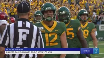 Baylor wins 2OT thriller to move to 6-0