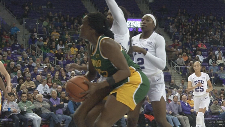 Lady Bears survive at TCU without injured Smith