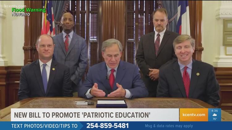 Gov. Greg Abbott signs law to promote 'patriotic education'