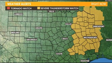 Severe weather threat pushes out of Central Texas, leaves light rain still possible