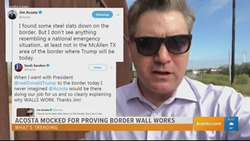 What's Trending: Jim Acosta mocked for proving border wall works