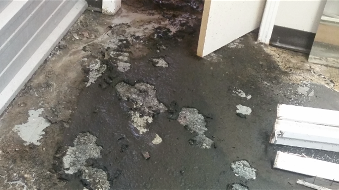 Mart | 'Crews worked on a sewage line and now there is sewage in my building'