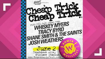 Cheap Trick to headline Bowen MusicFest in June
