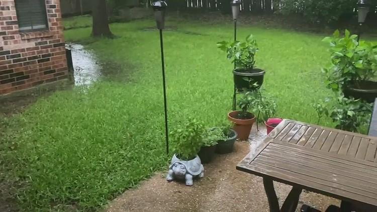 Standing water in Hewitt backyard
