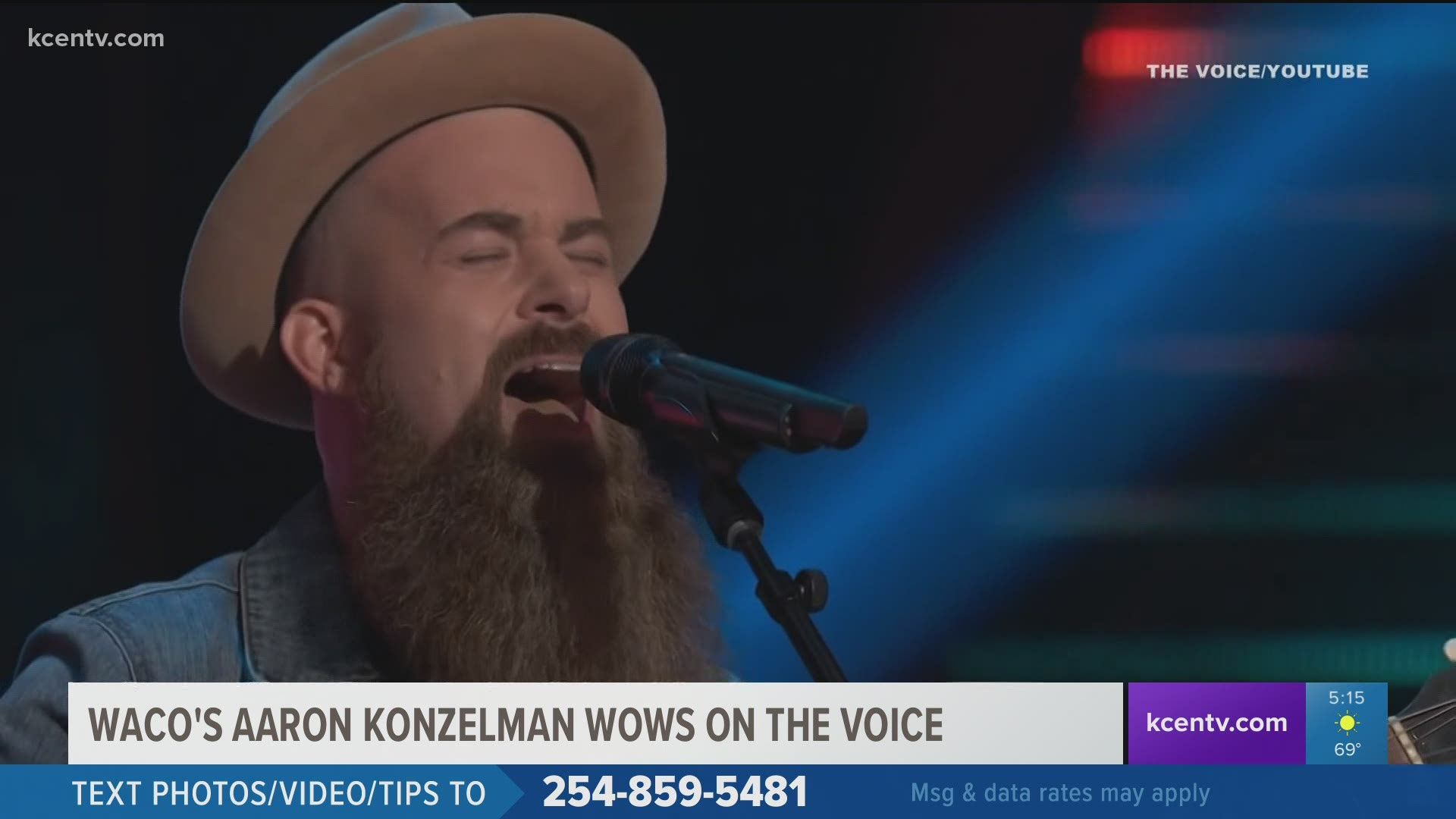 Watch Waco Musician Wows The Voice Judges In Blind Audition Kcentv Com