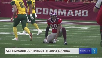 San Antonio Commanders struggle against Arizona