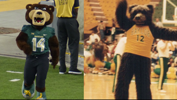 Two Baylor mascots, one family tradition