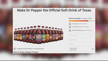 What's Trending: Petition made to name Dr. Pepper official drink of Texas