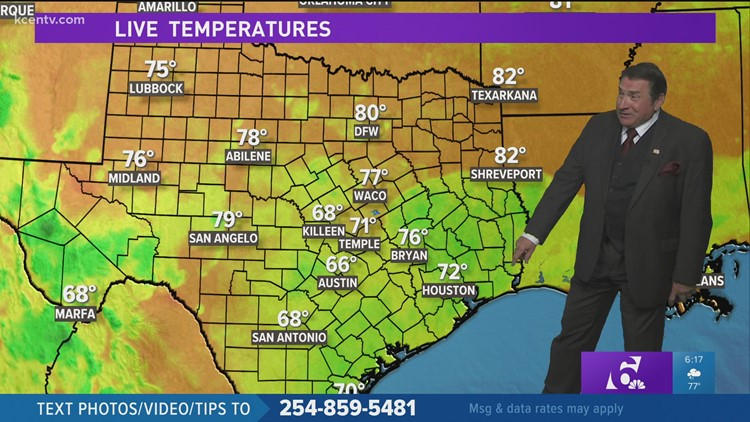 Central Texas 6 p.m. forecast update: The rain continues, but it's been fairly light
