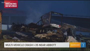 I-35 West crash and fire | kcentv com