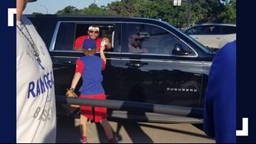 Tacos for Dak: Groesbeck group gives Dak Prescott Taco Bell outside Texas Rangers game