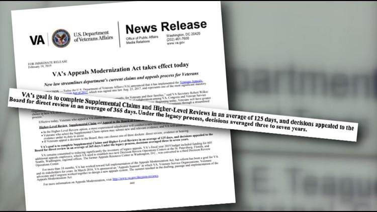 Veteran's Appeals Improvement, Modernization Act takes effect