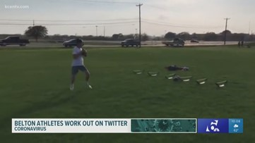 Central Texas athletes staying in shape, sharing isolation workouts on Twitter