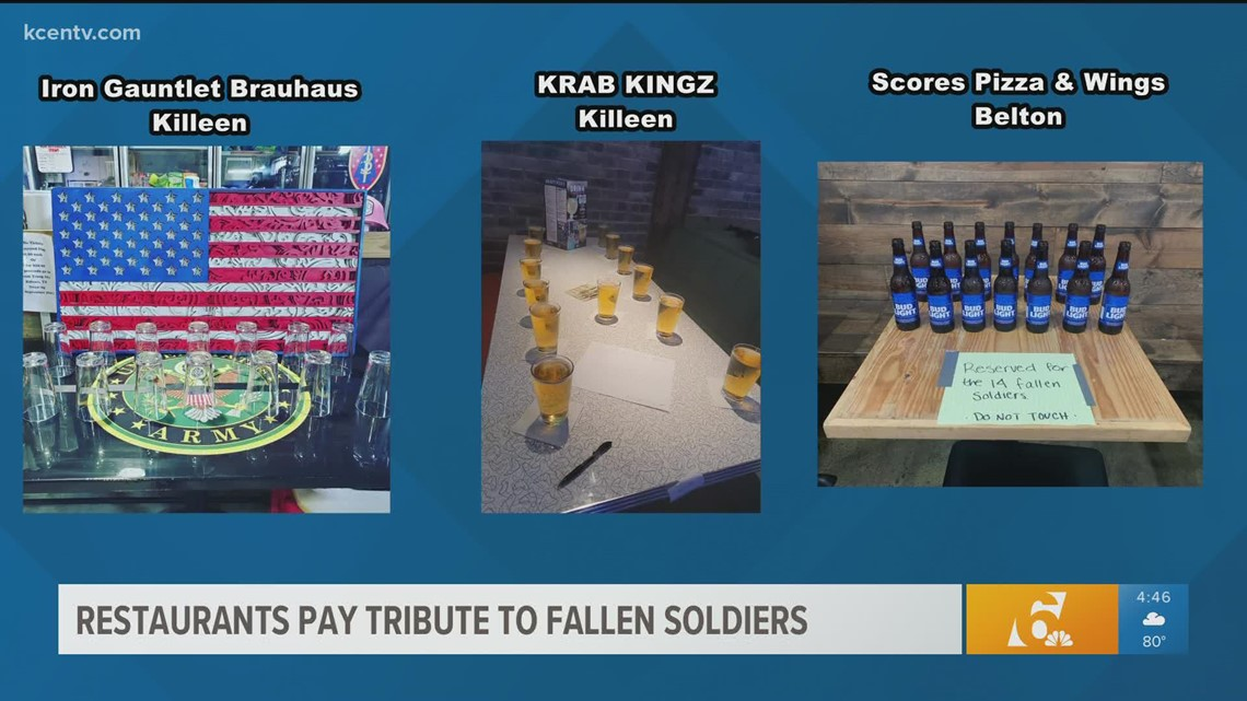 Restaurants pay tribute to 13 fallen US soldiers in Afghanistan