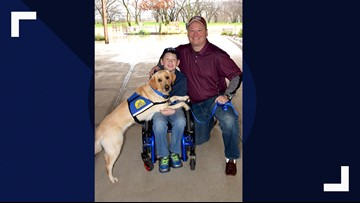 Son of family featured on 'Fixer Upper' paired with service dog