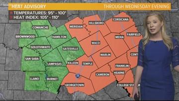 Hot, hot hot! Heat advisory hits Central Texas Tuesday