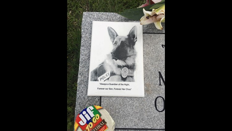 The Harker Heights Police Department held a memorial Thursday for their beloved K9 Officer Rokky outside the station.