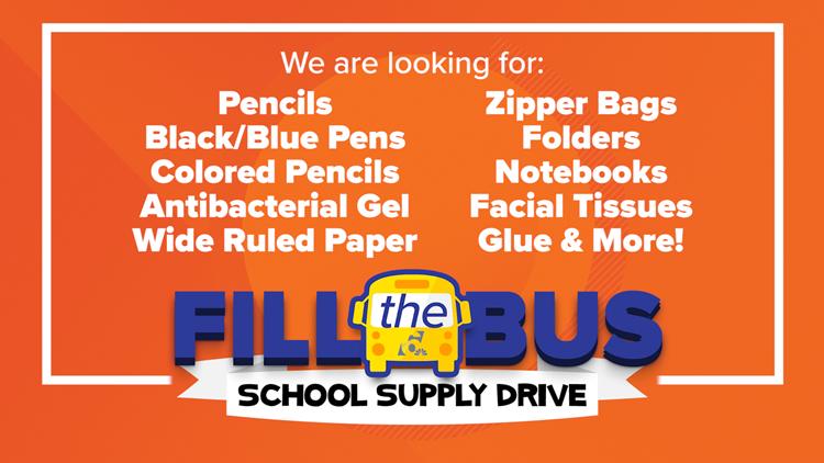 Fill the Bus school supply list