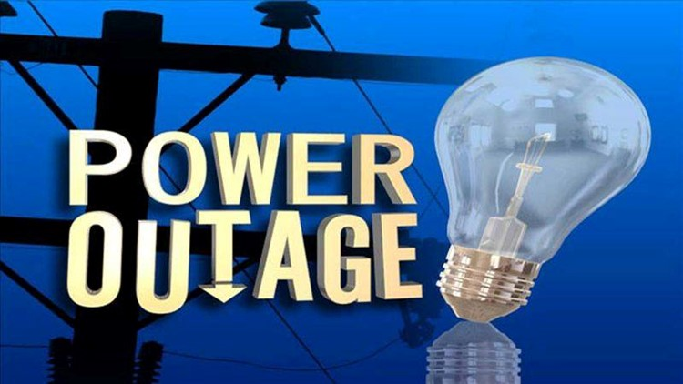 The city said a raccoon caused a main transformer to go down Wednesday morning.