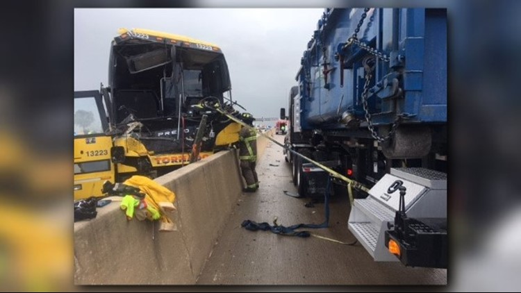A Tornado bus crashed Wednesday afternoon on NB I-35 just south of FM 310 in Hill County.