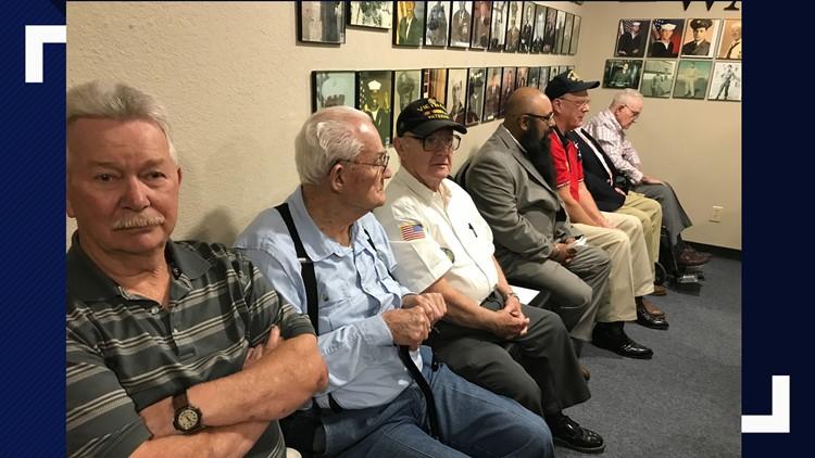 Central Texas veterans receiving award from Rep. Bill Flores