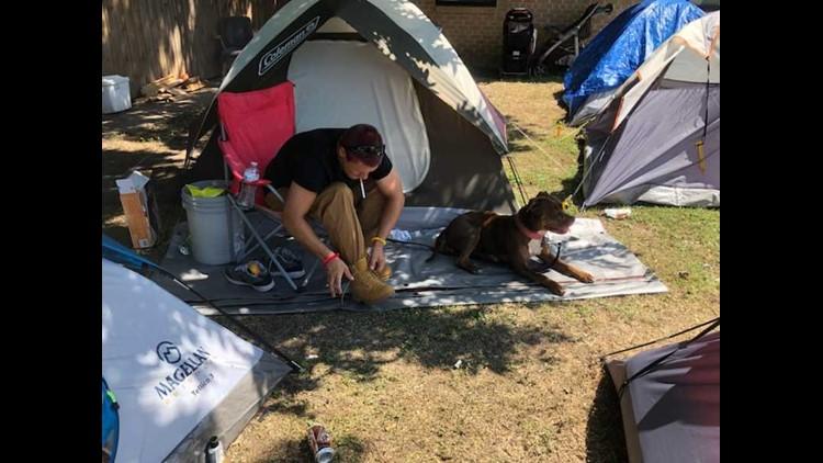 Allen Kimble - homeless man at Killeen tent city