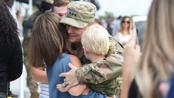 Dozens of military families reunited at Fort Hood homecoming