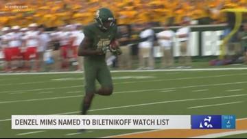 Baylor WR Denzel Mims named to Biletnikoff watch list