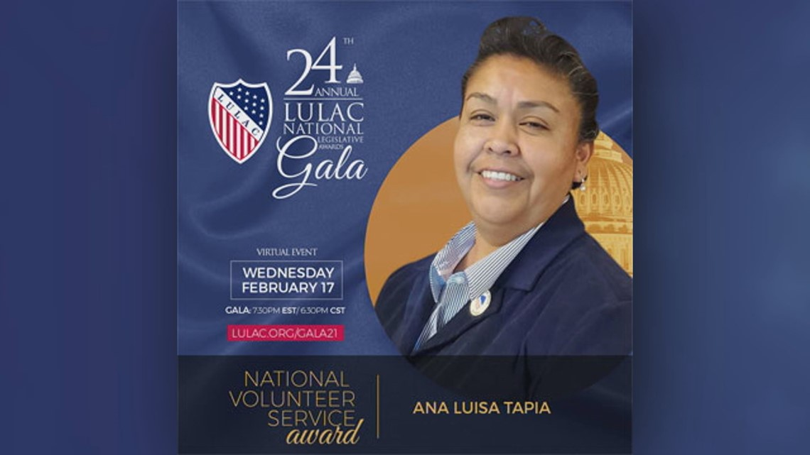 Local LULAC Director recognized with National Volunteer Service Award