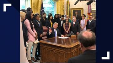 Lady Bears 'sic' the White House