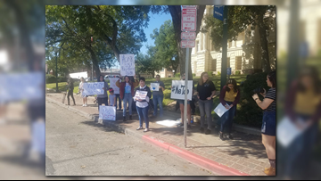 Protestors call on judge to reject plea deal given to former Baylor frat president