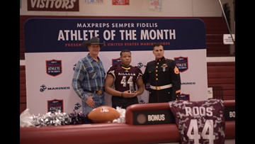 Killeen High School football player presented Marine award