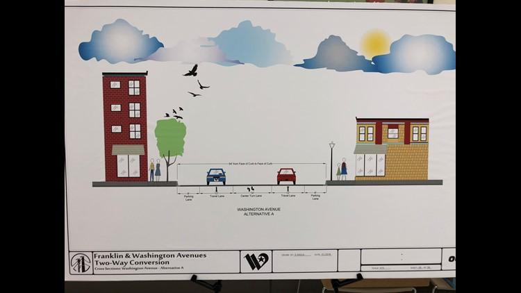 Washington Avenue lane option one