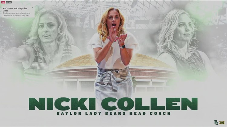 WATCH: Nicki Collen formally introduced during news conference at Ferrell Center