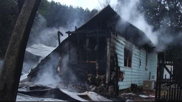 Fire destroys Whitney home