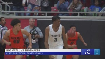 High school boys basketball regional quarterfinals: Rockwall vs. Shoemaker