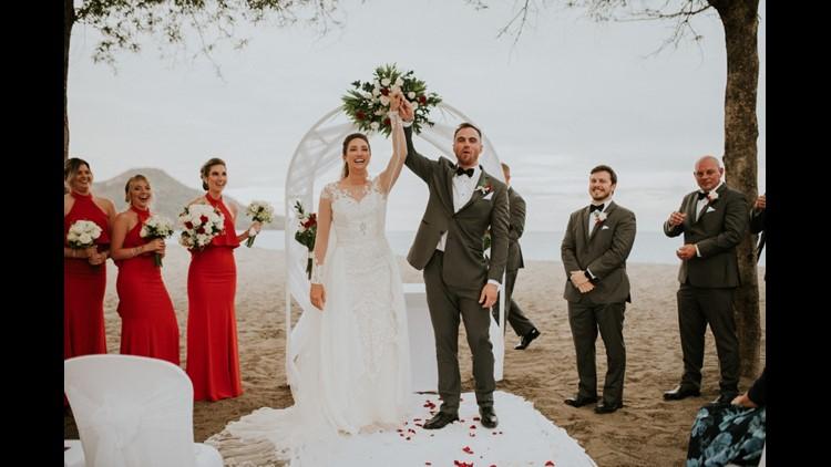 Shelly Stafford wedding Baylor Volleyball