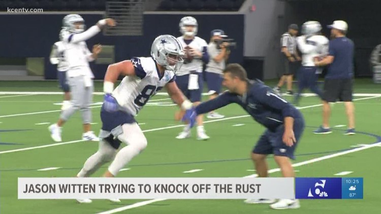Jason Witten trying to knock off the rust