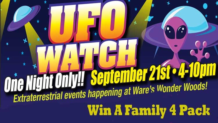 Win Tickets To UFO Watch at Ware's Wonder Woods