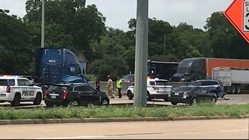 Cucumber truck spill halts traffic on I-35