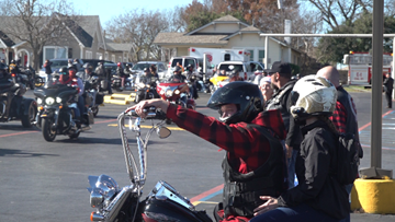 Hundreds of bikers turn out for TriCounty Toy Run of Central Texas