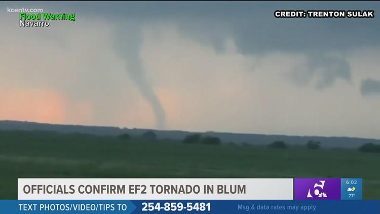 Weather officials confirm EF2 tornado in Blum