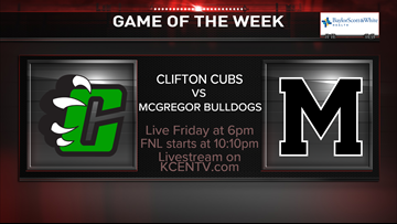No. 9 Clifton wins week 4 Game of the Week with 28-22 win over McGregor