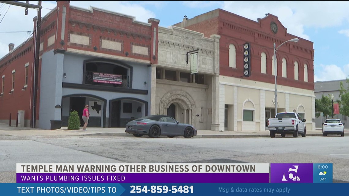 Temple man puts up sign, warning other businesses to steer clear of Downtown after spending over $100k